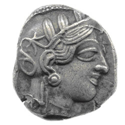 greek coins - athena goddess ancient coins