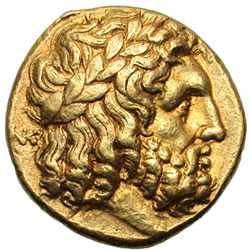 greek coins - zeus god ancient coins